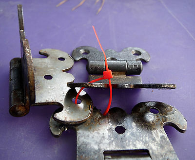 """3 Antique Gothic Rustic Hinges for Repurpose projects - 2 7/8"""" or 2 3/8"""" wide 2"""