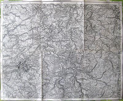 Karte des Deutschen Reiches, 442 Chemnitz, 1:100.000, gedruckt ca. 1910