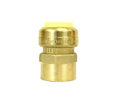 """1/2"""" Sharkbite Style (Push-Fit) Brass Female Adapter, Pack Of 10 Connect Fitting 2"""