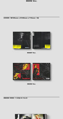 SHINEE TAEMIN [WANT] 2nd Mini Album WANT Ver CD+PhotoBook+Card+Stand+GIFT SEALED 7