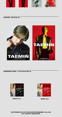 SHINEE TAEMIN [WANT] 2nd Mini Album RANDOM CD+Photo Book+Card+Stand+GIFT SEALED 9