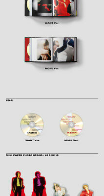 SHINEE TAEMIN [WANT] 2nd Mini Album WANT Ver CD+PhotoBook+Card+Stand+GIFT SEALED