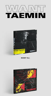 SHINEE TAEMIN [WANT] 2nd Mini Album WANT Ver CD+PhotoBook+Card+Stand+GIFT SEALED 6