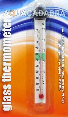 Betta Glass Thermometer Simple Accurate Celcius Farenheit Aquarium Fish Tank