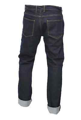 Mens motorcycle armour TROUSER JEANS ENGINEERED BLUE protective lining slim fit 2