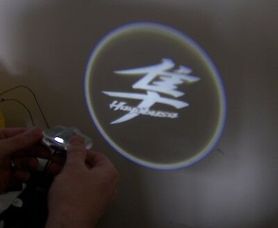 RED projection led light with Kanji logo HAYABUSA Hayabusa Kanji Logo Light