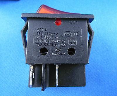Instalación Interruptor basculante,2 polig (4 pines) 16a 250vac 28.5 21.9mm 2