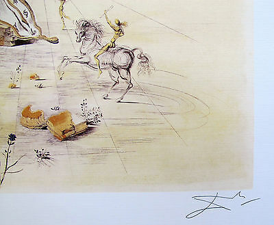 2 Of 3 Salvador Dali Cosmic Horseman Signed Limited Edition Lithograph Art
