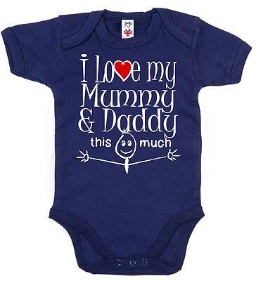 """Daddies Baby Bodysuit /""""I Love my Daddies/"""" Baby grow Vest LGBT Gay Pride Dads"""