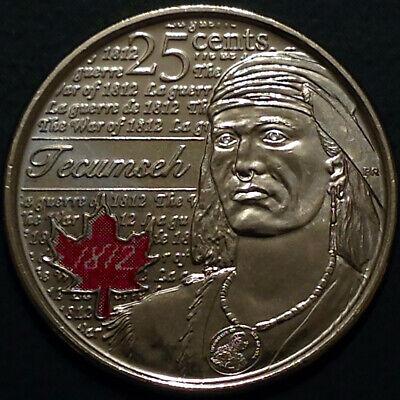 Canada 2012 / 2013 War of 1812 8 Commemorative 25 Cent Quarter Coin Set, UNC 2