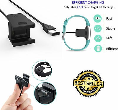 Charger For Fitbit CHARGE 2 Activity Wristband USB Charging Cable Cord Wire-NEW