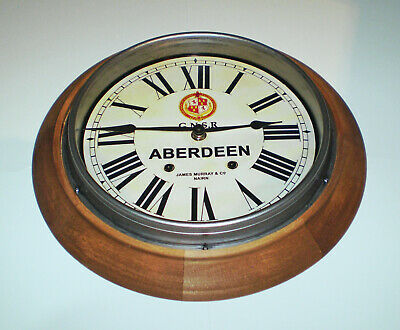 GNSR Great North of Scotland Railway Styled Station Wall Clock, ABERDEEN Station 3