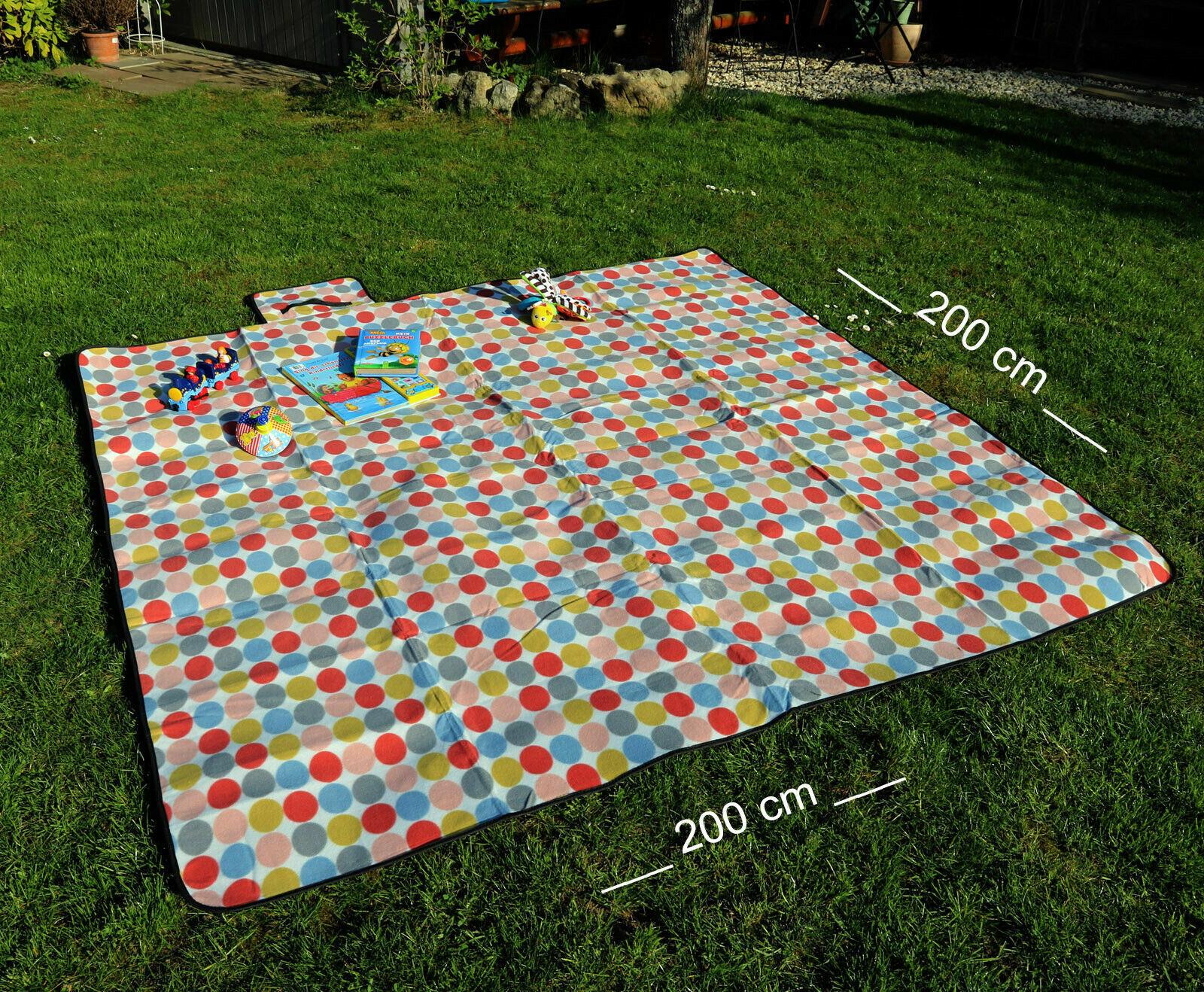 Picknickdecke wasserdicht Campingdecke Strandmatte Isomatte Outdoor Decke 300cm