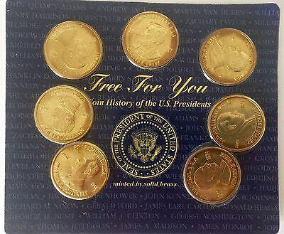 Un Monedas Historia U. S. Presidentes 19 Menta en Latón Macizo el Álbum Incluido 5