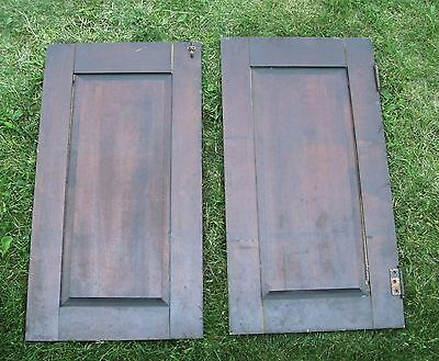 """Antique Vintage Pair Cabinet Doors from Old School Chemistry Lab 30"""" Tall 8"""