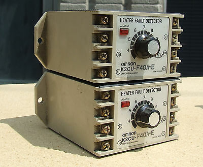LOT SET of 2 Omron K2CU-F40A-E Heater Fault Detector Units with alarm f 3