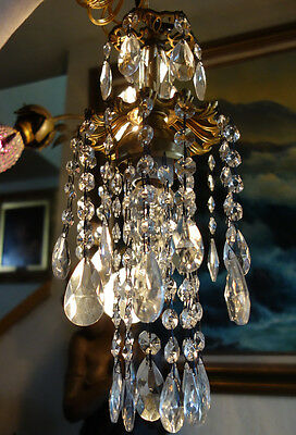 o swag mini jelly fish ins vintage lamp chandelier brass spelter, Lighting ideas