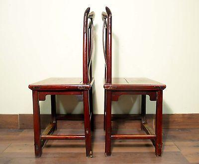 Antique Chinese High Back Chairs (Pair) (5495), Circa 1800-1849 11