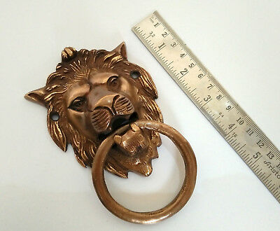 Set of 3 Pcs Vintage Lion Face Shape Antique Finish Handmade Brass Door Knocker 3