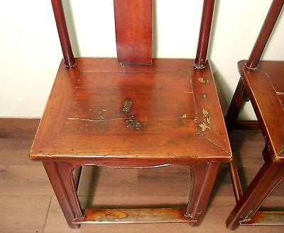 Antique Chinese High Back Chairs (Pair) (5495), Circa 1800-1849 3