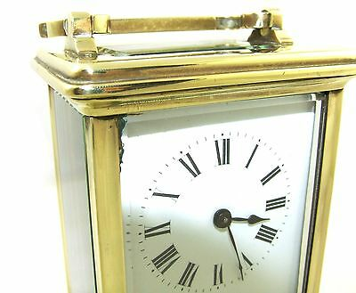 Antique Brass & Bevelled Glass Carriage Clock JAYS 142 & 144 OXFORD ST. W  (46) 12