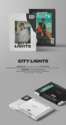 EXO BAEKHYUN CITY LIGHTS 1st Mini Album CD+POSTER+PBook+Lyric+Card+F.Poster+GIFT 7