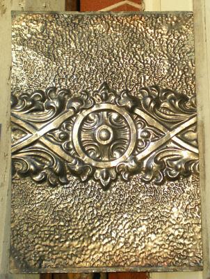 Antique Ceiling Tin Tile Art Nouveau Pie Safe Door Gothic Shabby Chic