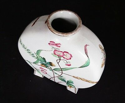 CHRISTOPHER DRESSER Minton Moon Flask Butterfly Roses 1870s Aesthetic Movement 3