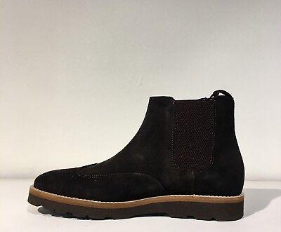 Trussardi jeans scarpa uomo stivaletto camoscio art.77A00027 col. marrone