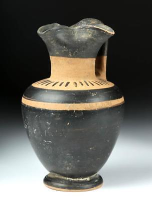 Greek Terracotta Trefoil Oinochoe Lot 26E