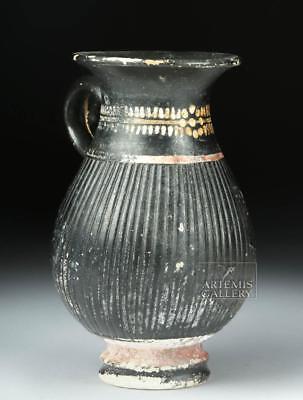 Gnathian Pottery Thistle Mug w/ Painted Motifs Lot 23