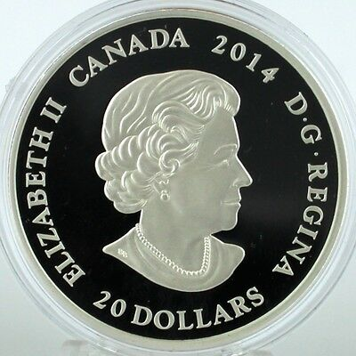 Canada 2014 $20 Stained Glass: Casa Loma, 1 oz. Pure Silver Coin, #2 in Series 8