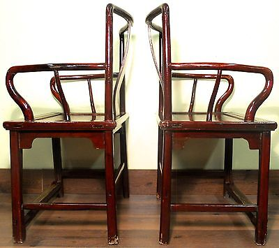 Antique Chinese Ming Arm Chairs (5507), Circa 1800-1849 10