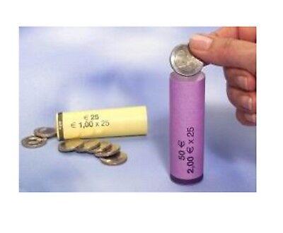 Blister Per Monete Euro Tubi Di Carta Kit Portamonete Preconfezionati Euro Cent 4