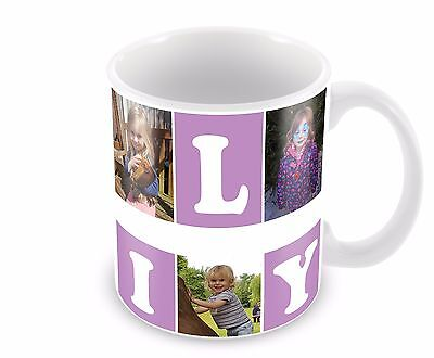 Personalised mug/Cup Family 6 Photo Collage Birthday Christmas Gift Present Tea 3