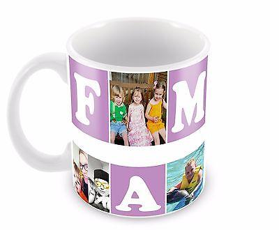 Personalised mug/Cup Family 6 Photo Collage Birthday Christmas Gift Present Tea 2