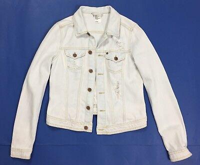 buy online 0aa34 0c18e HM JACKET JEANS donna usato destroyed giacchetta giubbotto giacca tg 42 T362
