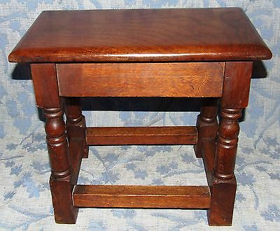 Antique Style SOLID Oak Joint Stool / Occasional Table / Lamp Stand (35) 4