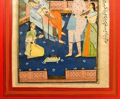 18Th-19Th C Antique Mughal (India) Miniature Illuminated Manuscript Opaque W/C 7