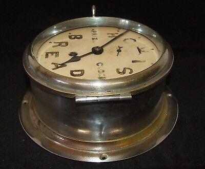 Ship Style Chrome HOVIS BREAD PRIZE CLOCK Advertising Clock BRAVINGTONS LONDON 8