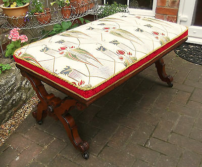 Mid-Victorian Luxury X-Framed Mahogany Stool~Sofa Table~Liberty~Mackintosh Style 7