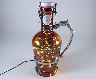 Flaschen Lampe Ratskeller Pils Krug rustikal Tischlampe mit 120 LED´s ww+MC 10