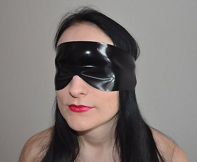 Latex Augebinde Schlafmaske Augenmaske verschiedene Farben - Gummi Latexmaske 2