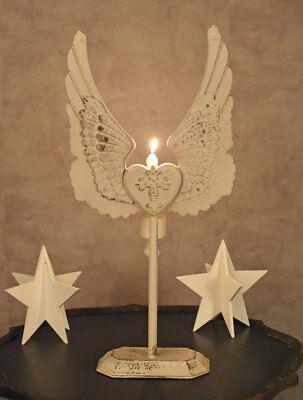Kerzenleuchter Kerzenhalter Engelsflügel Leuchter Flügel Kandelaber Shabby Chic 3