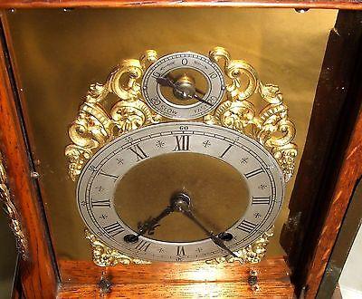 # Antique Oak & Ormolu TING TANG Bracket Mantel Clock : Winterhalder W & H (a27) 6