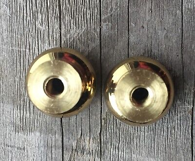 """5/8"""" Brass Round Knobs Pulls Handles Stacking Barrister Cabinet BookCase Drawer 7"""