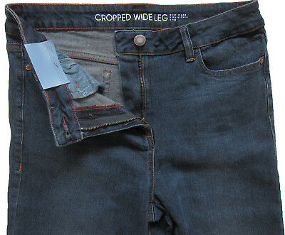 New Womens Blue Crop Ankle Wide Leg NEXT Jeans Size 16 14 12 10 6 RRP £28 5
