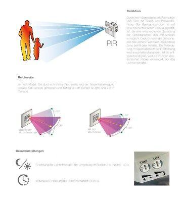 LED SET Treppenbeleuchtung Stufen Bewegungsmelder PIR Sensor inkl Trafo 230V