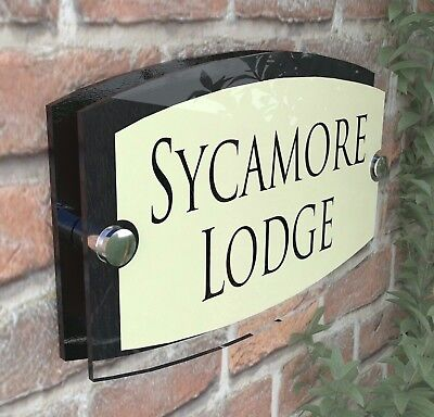 Classic Cream House Signs Plaques Door Numbers 1 - 999 Personalised Name Plate 5