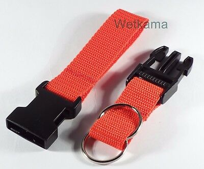 Police Security Twin Split Ring Belt Loop Side Release Key 25 mm Strap UK Made 3